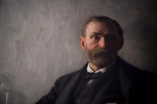Painting of Alfred Nobel