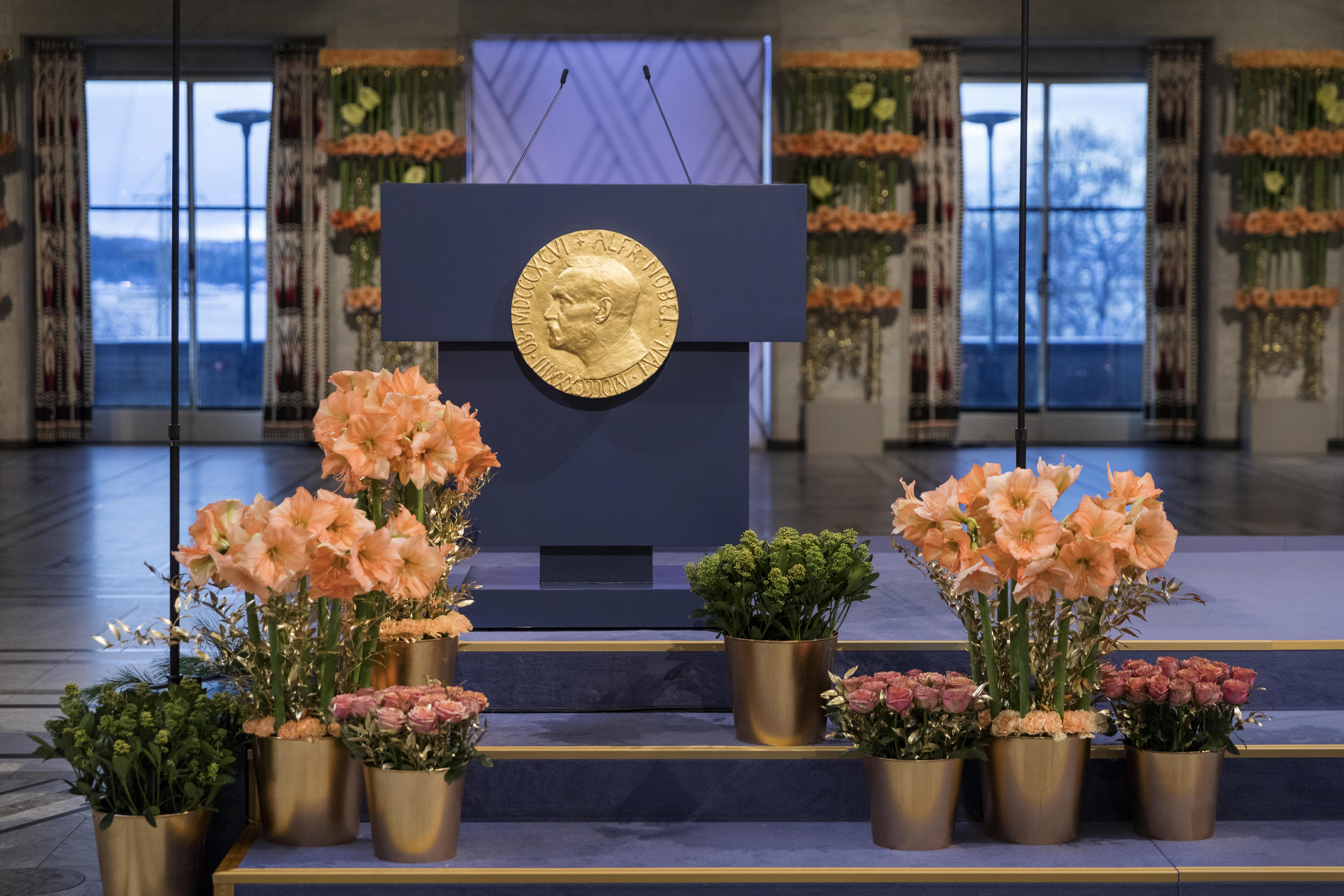 The Nobel Peace Prize ceremony
