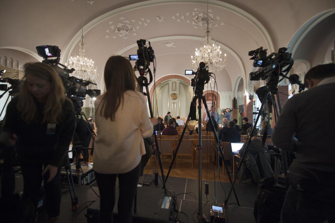 Prisvinners pressekonferanse