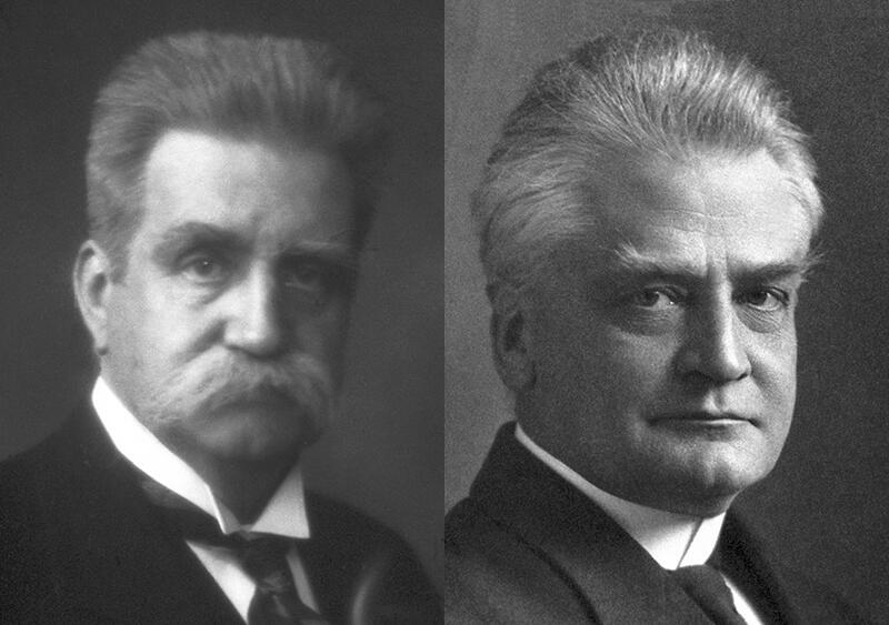 Hjalmar Branting og Christian L. Lange