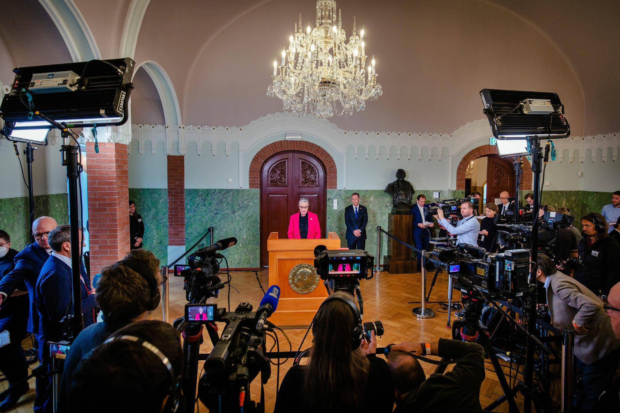Announcement Nobel Peace Prize 2021